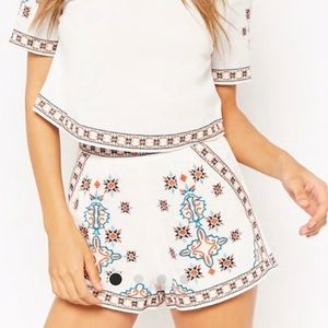 F21 Embroidery Shorts